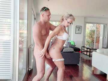 Aged beauty Marina Beaulieu gets her French shaved pussy pumped alright