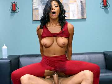 Nia Nacci is interested in a yoga session but gets banged hard by instructor