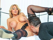 A horny wife, Kayla Kayden, has a nice surprise for her husband when he returns home from ...