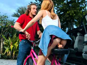 Cycling with my friend's girlfriend Victoria Gracen