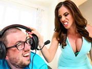 Ariella Ferrera is a horny MILF who wants nothing more than her video game addict son to leave ...