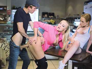 Kayla Green makes Ella Hughes and Danny D play by her horny MILF rules