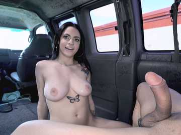 Derrick takes nice amateur girl Melody Foxx from behind in moving van