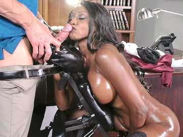 Diamond Jackson in Oily Office