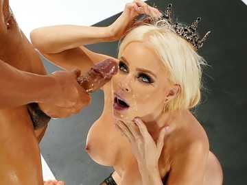 Nikki Delano with a crown does it with enemy after losing the chess match
