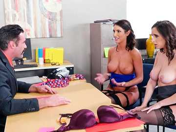 Ashley Adams and August Ames got salary reviewed after softcore threesome