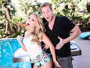 AJ Applegate notices that her neighbor is cooking some sausage. AJ loves sausage so she stops ...