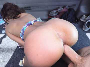 Black-skinned beauty London Tisdale used in BangBus like a cheap whore