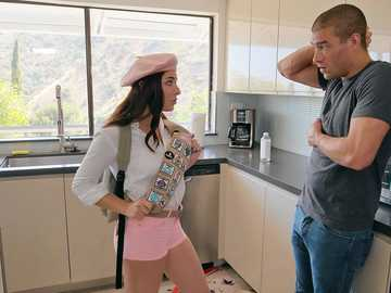 Nice cookie seller Keira Croft turns out to be a bad sex-hungry whore